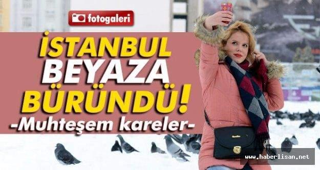 İstanbul Beyaza Büründü !!