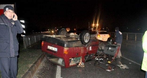 Karla Gelen Kaza: 2 Yaralı