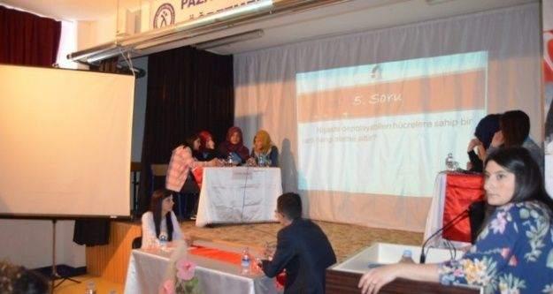 Pazarlar Anadolu Lisesi'nde Bilgi Yarışması