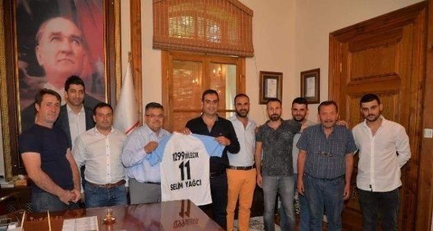1299 Bilecik Kulübü'nden Belediye Başkanı Yağcı'ya ziyaret