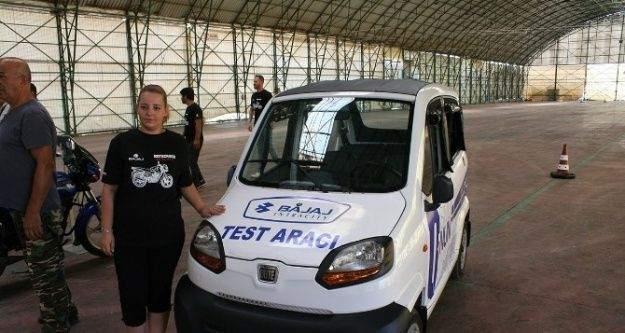 Bajaj motomobili Mudanya'da test edildi