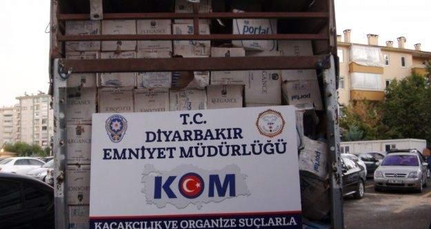 Diyarbakır'da kaçakçılara 1.5 milyonluk darbe