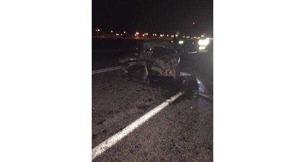 Otomobil duran vinçe arkadan çarptı; 1 ölü 1 yaralı