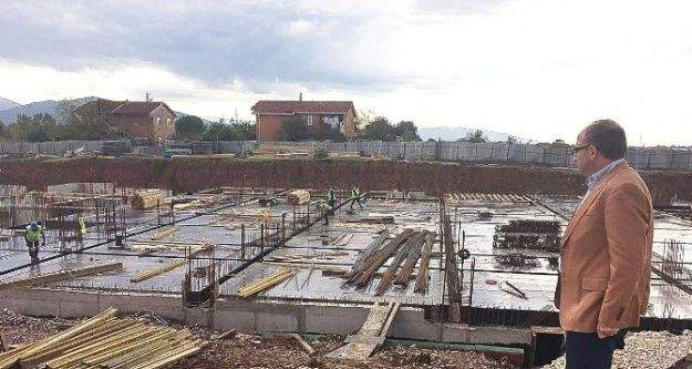 Üzülmez, yeni hizmet binası inşaatını inceledi