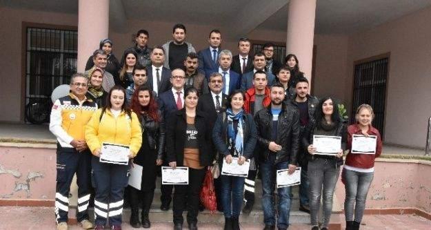 112 personeline Adli vakalarda delillere yaklaşım eğitimi verildi