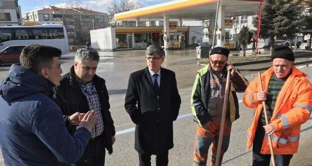 Başkan Yardımcısı Ali Avcıoğlu çalışmaları yerinde inceledi