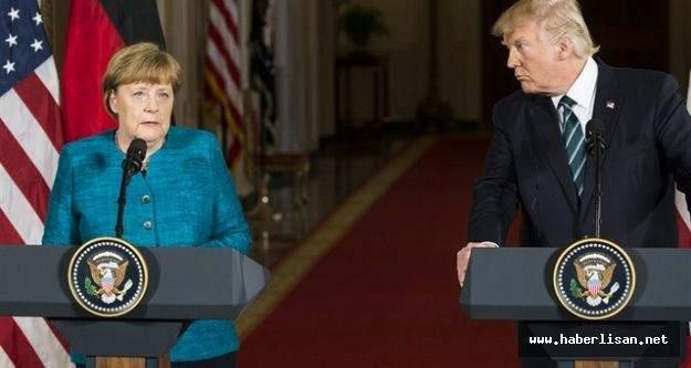 Trump Merkel'e Türkiye dersi verdi