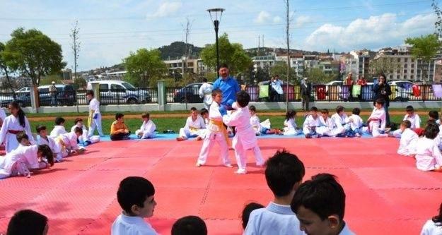2. Biga Çocuk Olimpiyatlarında karateciler yoğun ilgi gördü