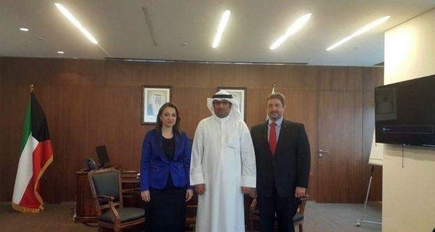 Nezaket Atasoy, Kuveyt Sanayi ve Ticaret Bakanı ile görüştü
