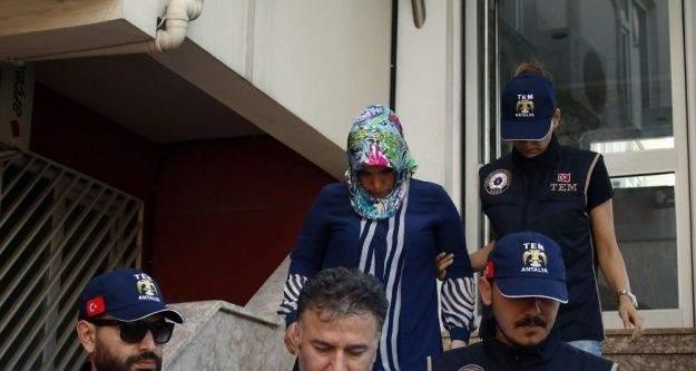 Kaymakamların sözde Akdeniz bölge imamı ve abla konumundaki eşi Antalya'da yakalandı