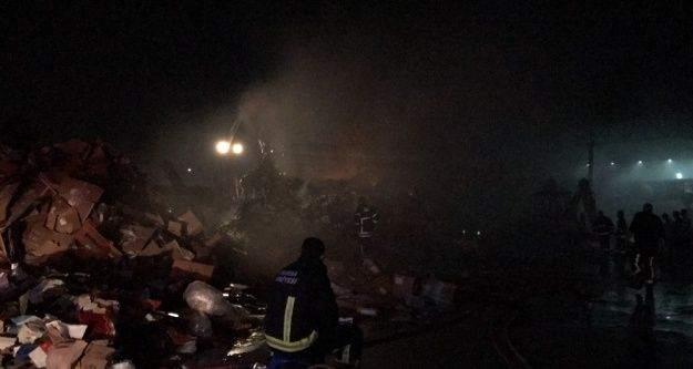 Bursa'da geri dönüşüm tesisinde korkutan yangın