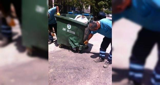İzmit'teki çöp konteynerleri zarar görüyor