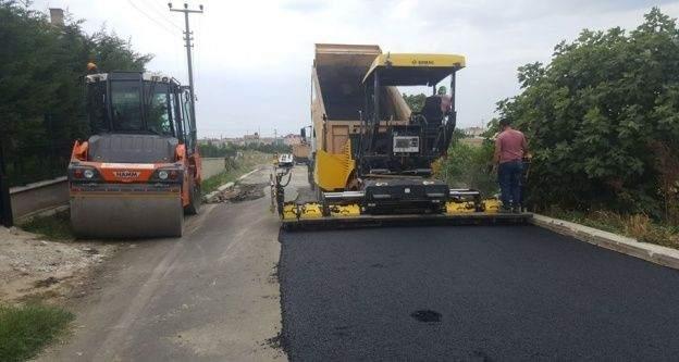 Marmaraereğlisi'nde yol yapım hizmeti devam ediyor
