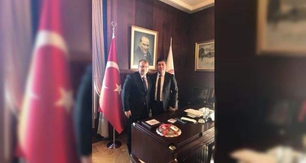 Ak Parti Bilecik Milletvekili Halil Eldemir'den Tüzün'e nezaket ziyareti