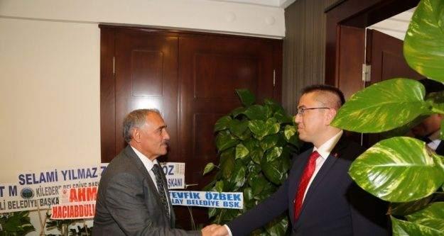 Niğde Cumhuriyet Başsavcısı ve Adalet Komisyon Başkanından Niğde Belediye Başkanı Rifat Özkan'a ziyaret