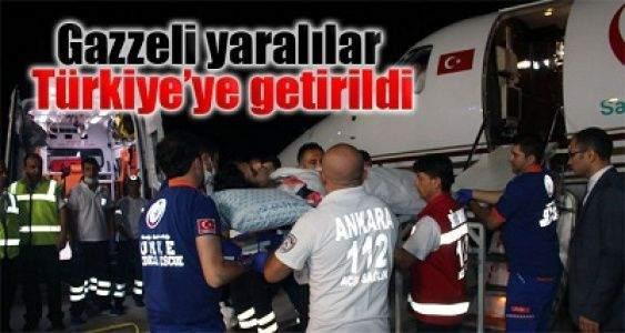 Gazzeli yaralılar Türkiye'ye getirildi