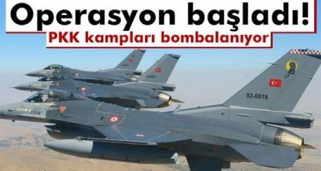 PKK kampları bombalanıyor