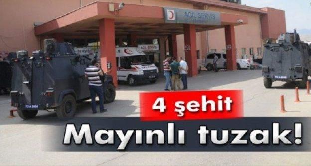 Şırnak'ta Hain Saldırı : 4 Şehit