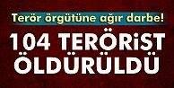 DEAŞa büyük darbe! 104 terörist öldürüldü