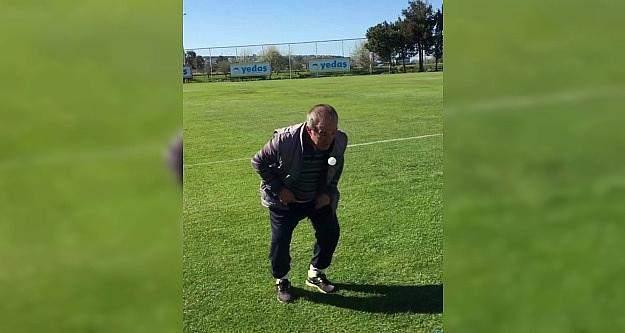 Samsunsporlu futbolculardan eşek şakası