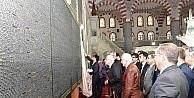 Tuvale Nakşedilmiş Kur'an-ı Kerim, Dergah Camiide sergileniyor