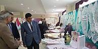 Başkan Yalçın el işi sergisine katıldı