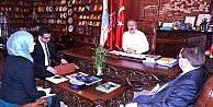 UCLG-MEWA genel sekreteri Duman, Ünver'i ziyaret etti