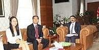 Güney Kore Büyükelçisi Vali Aktaş'ı ziyaret etti
