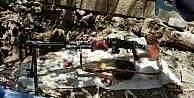 Hakkari'de toprağa gömülü makineli silah ele geçirildi