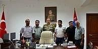Gazetecilerden Jandarma Komutanı Başaklıgil'e hayırlı olsun ziyareti
