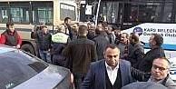 Kars'ta eylem yapan dolmuşçulara müdahale